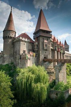 Hunyad Castle, Transylvania, Romania. Ten castles and fortresses of Romania