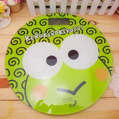 Big eyes frog Keroppi frog thin circular body scale weight scale electronic Creative Home - Taobao