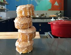 """Alton Brown's Bonut Recipe   Video Shown on Alton Brown's Facebook Page   It's Hot Deep-Fried & Glazed Biscuit!  Call it """"Bonut"""", Or """"Bronut""""?!  Your Choice!  LOL"""
