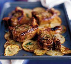 Sugar-crusted lamb chops!
