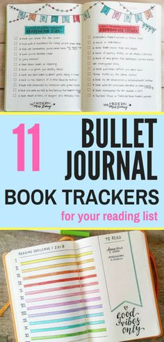 Keep your reading list or reading challenge organized with the help of a book tracker! These bullet journalists have created some pretty neat neat book trackers for their bullet journal, check them out!