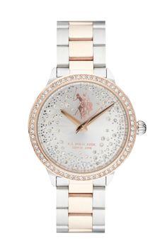 Venda U.S. Polo   10704   Mulher   Folheado Ouro e Aço   Relógio Quartzo  Alta Precisão Folheado de Ouro Rosa e Aço 992b45263c