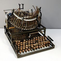 ORIGINAL DESCRIPTION: The world's first typist was Lillian Sholes from Wisconsin, the daughter of Christopher Sholes, who invented the first practical typewriter in Vintage Tools, Vintage Love, Retro Vintage, Vintage Market, Christopher Sholes, Writing Machine, Vintage Typewriters, Vintage Suitcases, Vintage Luggage