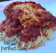 Crockpot Chicken Parmesan- The Not So Perfect Mom- SUPER easy!!