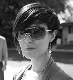 My asymmetrical haircut from a few summers back. Photo: Justin Hackworth