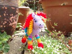 Hippolyta the Lavender Rainbow Horse Crochet soft toy