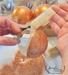 Remove tape right away from glitter