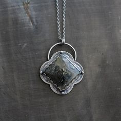 Nipomo Agate Pendant Necklace  Pyrite in Agate by StudioWildroses