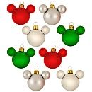 Traditional Glass Mini Mickey Mouse Holiday Ornaments -- 8-Pc. Set. For our Disney Tree