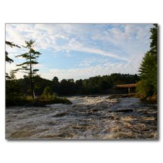 Early Morning Raging Waters Postcard (Pkg of 8) by KJacksonPhotography --  Taken 08.08.2014 Early morning raging waters at Stillwater River at Gilman Falls Avenue, Old Town, Maine. PC:154.182 #nature #maine #river #ragingwaters #earlymorning #postcard #postcards