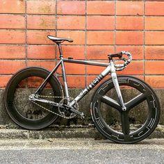 #Repost from cyclist @takahiro_kikuchi - #cinelli #mashsf #cycling #biking #cyclist #bike #photography #bicycle #fixedgear #trackbike #hizokucycles   HizokuCycles.com