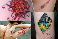 You got: a vibrant color tattoo.  Ideal Placement: Forearm, upper arm, thigh, back, collarbone. You have an intense exuberance that could only be expressed with an explosion of color. Sure, the ink will fade, but your who-cares attitude is always one step ahead and ready to move on to the next adventure.