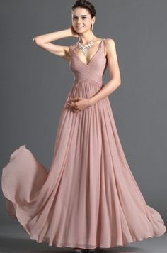 Dusty rose pink bridesmaid dress pretty if straight like the top part though- too flowy