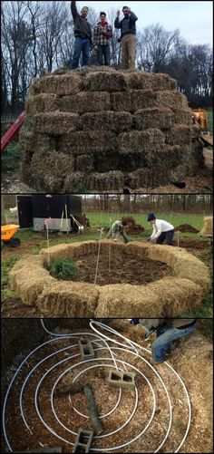 Do you need an extra source of heat for your home during the winter? How does a free heating system that comes with a rich soil for your garden sound? :)  This compost heating system is definitely a great idea if you want hot water to use during the winter or if you need to heat your greenhouse or home!  Learn how to build it yourself by heading over to the step-by-step tutorial on our site at  http://diyprojects.ideas2live4.com/2016/03/07/compost-heating-system/
