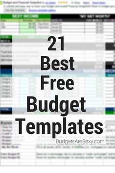 These are the best free #budget templates around – mostly from fellow personal finance #bloggers! How awesome is that? ;) I have to put mine at the top, of course, but ANY of these have the potential of working well nicely. http://www.budgetsaresexy.com/2009/07/free-budget-templates-sites/ #FinanceTemplate