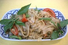 Authentic Thai recipe for Drunken Noodles, 'Pad Kee Mao' from ImportFood.com.