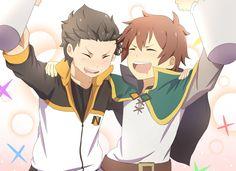 Re:ZERO -Starting Life in Another World- KonoSuba and Subaru Natsuki HD Wallpaper   Background Image   2200x1600