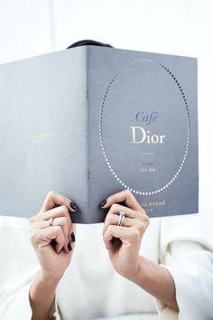 At cafe Dior