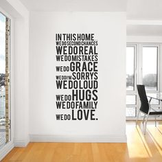 I will be doing this in my future home, and in the hallway by the front door where everyone will be able to see it on the wall when they walk in my home.