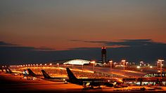 Kansai Airport after sunset (PacoAlcantara) Tags: travel sunset tower industry japan airplane lights airport control aviation air international commercial airline  land  kansai  japon airliner kix  reclaimed     abigfave  travelerphotos canonef55200mmf4556iiusm