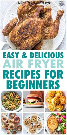 Whether you're brand new to the world of air fryers or an expert air fryer user, you will absolutely love this collection of the Best Air Fryer Recipes For Beginners. From main dishes, sides and… More Air Fryer Recipes Vegan, Air Frier Recipes, Air Fryer Dinner Recipes, Air Fryer Healthy, Lunch Recipes, Appetizer Recipes, Healthy Recipes, Drink Recipes, Steak And Mushrooms