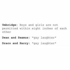 Oh lord I can't. I don't ship Drarry but this is too hilarious<<Dean and Seamus on the other hand... ;)