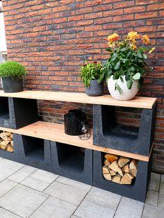 Simple Outdoor Kitchen, Garden Yard Ideas, Garden Planning, Garden Inspiration, Backyard Landscaping, Cinder Block Garden, Garden Design, Home And Garden, Decoration