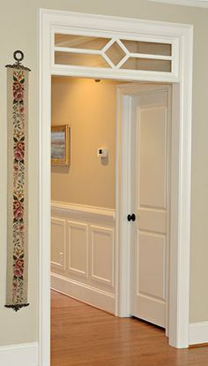 Transom + Tall Baseboards - this would be nice for the hall. Camouflage the ceiling access panel