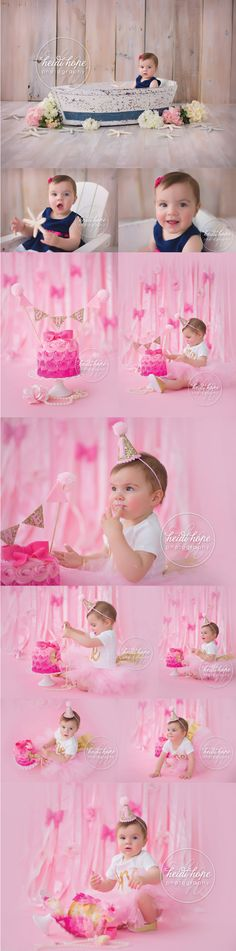 A Pretty In Pink Birthday Cakesmash for Baby A! Infant Photography, Birthday Photography, Photography Ideas, Cake Photos, Cake Smash Photos, Pink Birthday, 1st Birthday Parties, Smash Cake Girl, 1st Birthday Pictures