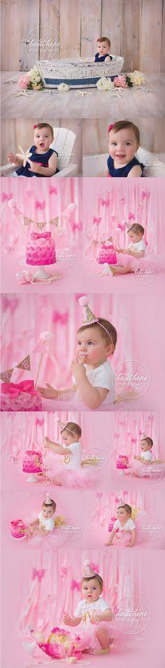 First Birthday Session - #babygirl  #rhodeisland #babyphotographer #heidihope Infant Photography, Birthday Photography, Photography Ideas, Cake Photos, Cake Smash Photos, Pink Birthday, 1st Birthday Parties, 1st Birthday Pictures, Smash Cake Girl