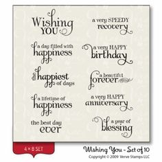"""Wishing You"" Stamp Set from Verve Stamps"