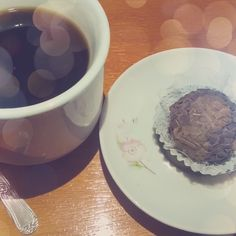 Café com brigadeiro belga...divino!