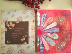 Journal page process using acrylic paint, mixed media and collage sheets from Mrs Brimbles patreon - Kerrymay._.Makes