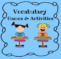 Vocabulary building games and websites