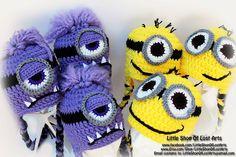 Minions crochet hats