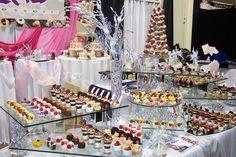 dessert buffet by Carmela DeJesus-Nicholson Dessert Buffet, Candy Buffet, Dessert Tables, Party Like Its 1999, Styling A Buffet, A Little Party, Beautiful Desserts, Chocolate Strawberries, Chocolate Coffee