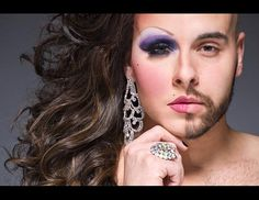 Portraits of Drag Queens in Half Drag I freaking LOVE drag!!!