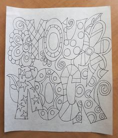 """""""You Rock"""" - the drawing by mamacjt, via Flickr"""