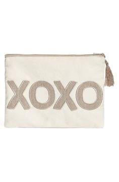 Expressing affection with this cute zip-top accessory bag that is perfect for carrying essentials while traveling. Valentine Day Love, Valentine Crafts, Girly Gifts, After Life, Bag Accessories, Pouch, Nordstrom, Purses, Zip
