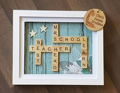 "15 Likes, 2 Comments - Chloe's Custom Creations (@chloes.custom.creations) on Instagram: ""Teacher thank you gift  #chloescustomcreations #handmade #personalised #scrabbleart #scrabbleframe…"""