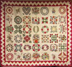 Barbara Brackman's MATERIAL CULTURE: Baltimore Album Quilts Set 6x7