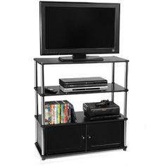 Delightful High Boy TV Stand In Black, For TVs Up To 37 Part 5
