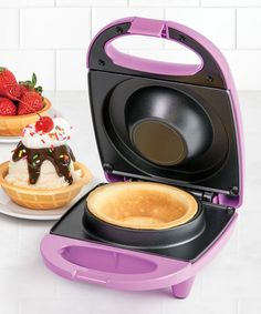 Take a look at this Nostalgia Electrics Waffle Bowl Maker today! Kitchen Items, Kitchen Gadgets, Kitchen Things, Kitchen Products, Kitchen Stuff, Waffle Bowl Maker, Recipe For 10, Waffle Machine, Yogurt Shop