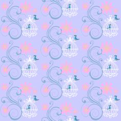 birdcages blue fabric by krs_expressions on Spoonflower - custom fabric and wallpaper