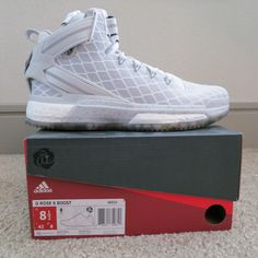 the latest ce7ee 99aa8 adidas Shoes   Men S Adidas D Rose 6 Boost (New)   Color  Silver White    Size  8.5