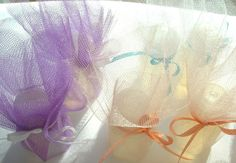 Wedding Favor Bubbles Wrapped in Tulle With a Bow by sljbridal, $6.00