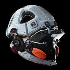 ArtStation - Military helmet prototype concept, by Ivan Tantsiura Robot Concept Art, Armor Concept, Yamaha Dt, Helmet Armor, Sci Fi Armor, Cyberpunk Character, Helmet Design, Mechanical Design, Aircraft Design