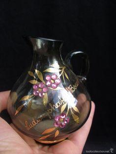 Jarrita de cristal  y oro trabajada a mano
