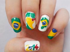 Tanya Minxy: 31DC2014 Day 28: Inspired By A FLAG - 2014 FIFA World Cup Brazil Nails