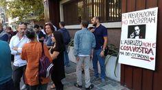 Incendi sit-in davanti alla Regione Abruzzo: la Valle Peligna dice no al rimboschimento